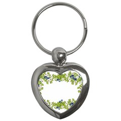 Birthday Card Flowers Daisies Ivy Key Chains (heart)