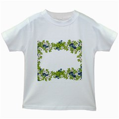 Birthday Card Flowers Daisies Ivy Kids White T Shirts