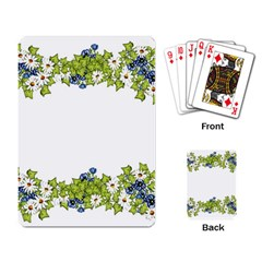 Birthday Card Flowers Daisies Ivy Playing Card