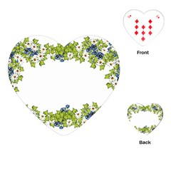 Birthday Card Flowers Daisies Ivy Playing Cards (heart)
