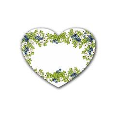 Birthday Card Flowers Daisies Ivy Heart Coaster (4 Pack)