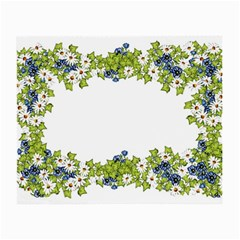 Birthday Card Flowers Daisies Ivy Small Glasses Cloth (2-Side)