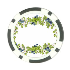 Birthday Card Flowers Daisies Ivy Poker Chip Card Guard (10 pack)