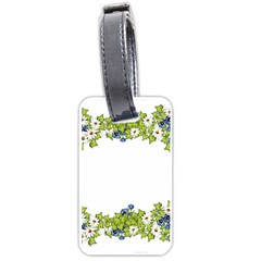 Birthday Card Flowers Daisies Ivy Luggage Tags (two Sides)