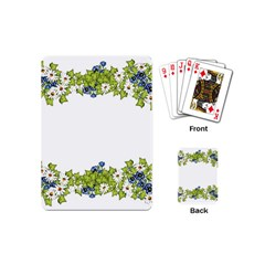 Birthday Card Flowers Daisies Ivy Playing Cards (Mini)