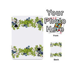 Birthday Card Flowers Daisies Ivy Playing Cards 54 (Mini)