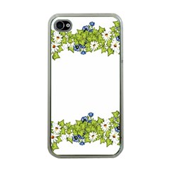 Birthday Card Flowers Daisies Ivy Apple Iphone 4 Case (clear)