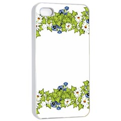 Birthday Card Flowers Daisies Ivy Apple Iphone 4/4s Seamless Case (white)