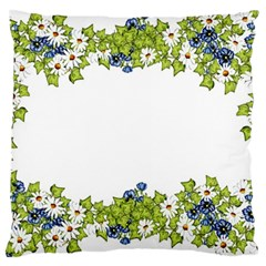 Birthday Card Flowers Daisies Ivy Large Cushion Case (One Side)