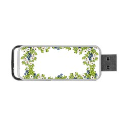 Birthday Card Flowers Daisies Ivy Portable USB Flash (One Side)