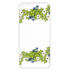 Birthday Card Flowers Daisies Ivy Apple Iphone 5 Seamless Case (white)