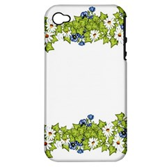 Birthday Card Flowers Daisies Ivy Apple iPhone 4/4S Hardshell Case (PC+Silicone)