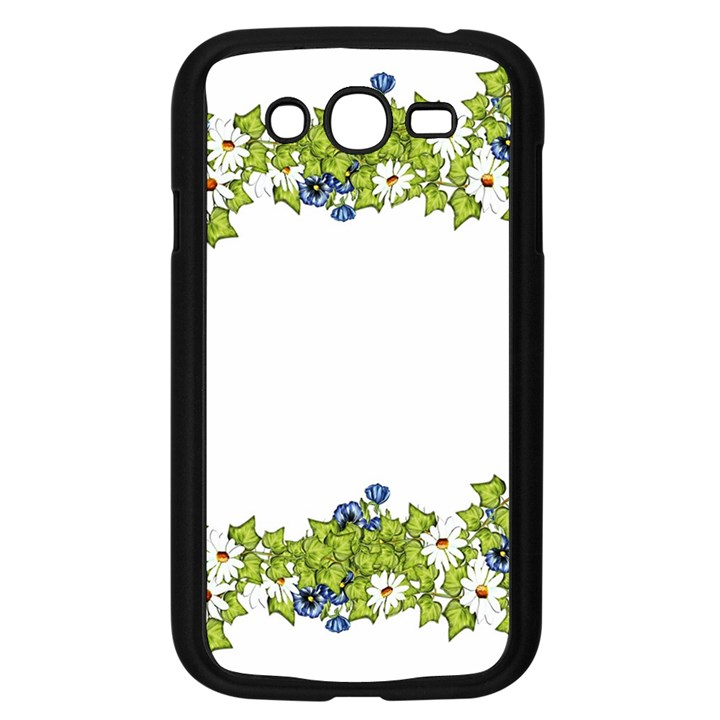 Birthday Card Flowers Daisies Ivy Samsung Galaxy Grand DUOS I9082 Case (Black)