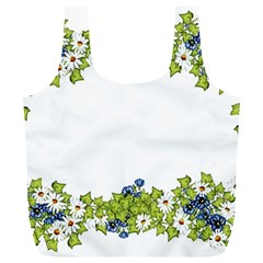 Birthday Card Flowers Daisies Ivy Full Print Recycle Bags (L)