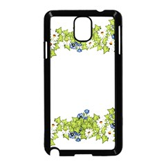 Birthday Card Flowers Daisies Ivy Samsung Galaxy Note 3 Neo Hardshell Case (black)