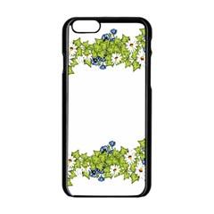 Birthday Card Flowers Daisies Ivy Apple Iphone 6/6s Black Enamel Case