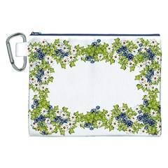 Birthday Card Flowers Daisies Ivy Canvas Cosmetic Bag (xxl)