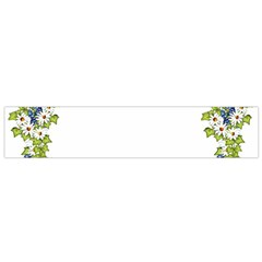 Birthday Card Flowers Daisies Ivy Flano Scarf (small)