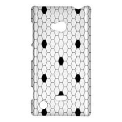 Black White Hexagon Dots Nokia Lumia 720
