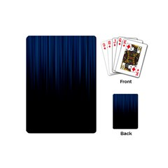 Black Blue Line Vertical Space Sky Playing Cards (mini)