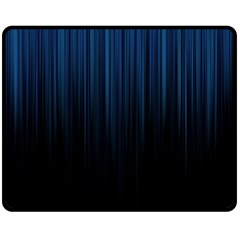 Black Blue Line Vertical Space Sky Double Sided Fleece Blanket (Medium)