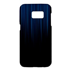 Black Blue Line Vertical Space Sky Samsung Galaxy S7 Hardshell Case