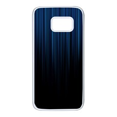 Black Blue Line Vertical Space Sky Samsung Galaxy S7 White Seamless Case