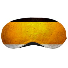 Wooden Board Yellow White Black Sleeping Masks