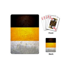 Wooden Board Yellow White Black Playing Cards (mini)