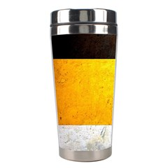 Wooden Board Yellow White Black Stainless Steel Travel Tumblers