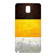 Wooden Board Yellow White Black Samsung Galaxy Note 3 N9005 Hardshell Back Case