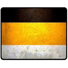 Wooden Board Yellow White Black Double Sided Fleece Blanket (Medium)