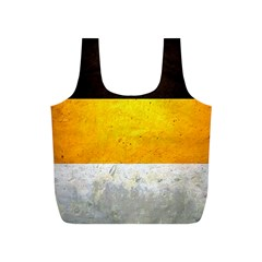 Wooden Board Yellow White Black Full Print Recycle Bags (S)