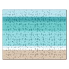 Dachis Beach Line Blue Water Rectangular Jigsaw Puzzl