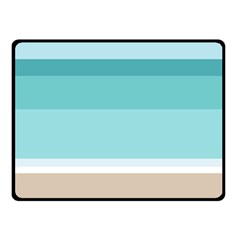 Dachis Beach Line Blue Water Double Sided Fleece Blanket (Small)