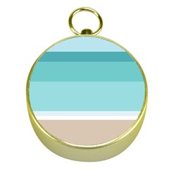 Dachis Beach Line Blue Water Gold Compasses