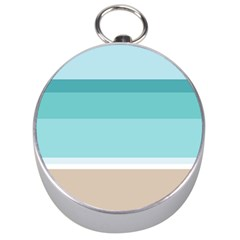 Dachis Beach Line Blue Water Silver Compasses