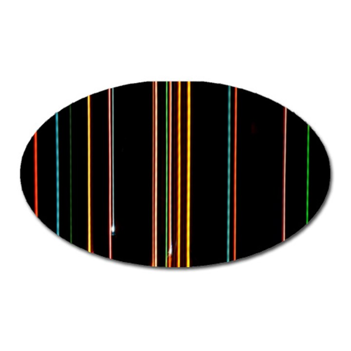 Fallen Christmas Lights And Light Trails Oval Magnet