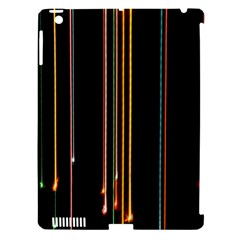 Fallen Christmas Lights And Light Trails Apple Ipad 3/4 Hardshell Case (compatible With Smart Cover)