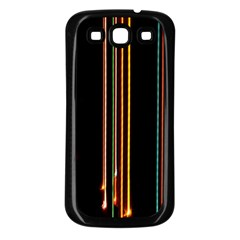 Fallen Christmas Lights And Light Trails Samsung Galaxy S3 Back Case (Black)
