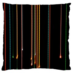 Fallen Christmas Lights And Light Trails Standard Flano Cushion Case (Two Sides)