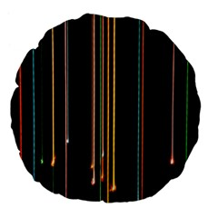 Fallen Christmas Lights And Light Trails Large 18  Premium Flano Round Cushions