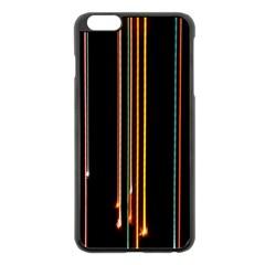 Fallen Christmas Lights And Light Trails Apple iPhone 6 Plus/6S Plus Black Enamel Case