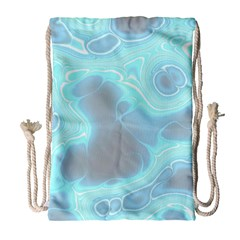 Blue Patterned Aurora Space Drawstring Bag (large)