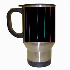 Falling Light Lines Perfection Graphic Colorful Travel Mugs (white)