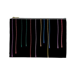 Falling Light Lines Perfection Graphic Colorful Cosmetic Bag (large)