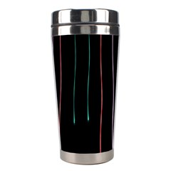 Falling Light Lines Perfection Graphic Colorful Stainless Steel Travel Tumblers