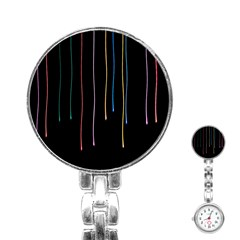 Falling Light Lines Perfection Graphic Colorful Stainless Steel Nurses Watch