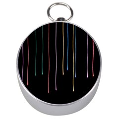 Falling Light Lines Perfection Graphic Colorful Silver Compasses