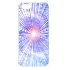 Creation Light Blue White Neon Sun Apple iPhone 5 Seamless Case (White)